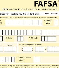 FAFSA form pix