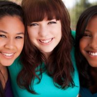 diverse teen girls